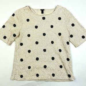 J. Crew Sequin Dressy Top Shirt Sz M